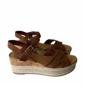 Fergie Ankle Strap Platform Espadrille Sandals